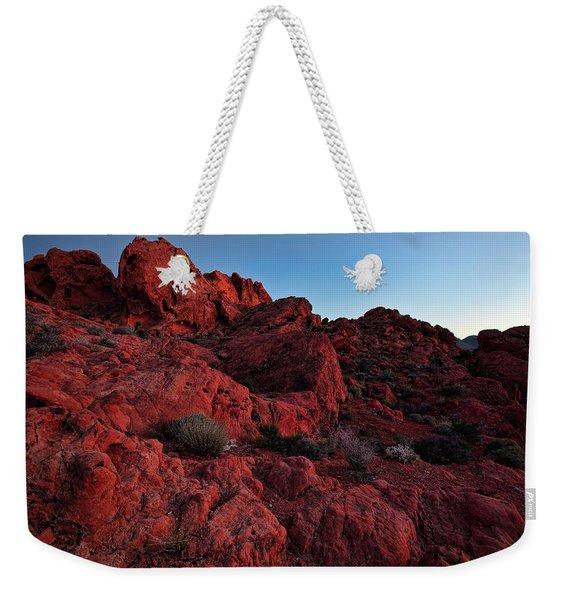 Last Light In Valley Of Fire Weekender Tote Bag