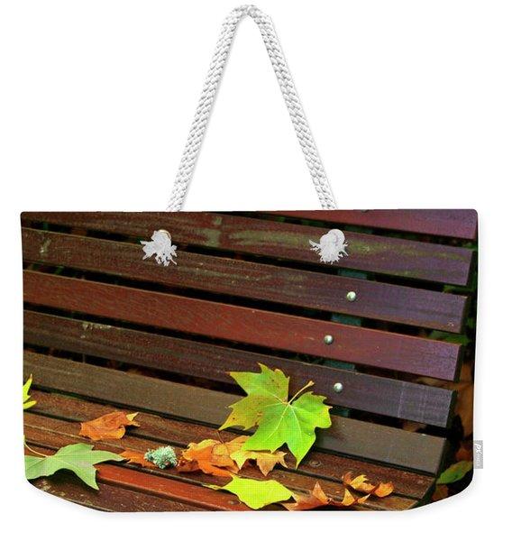 Leafs In Bench Weekender Tote Bag