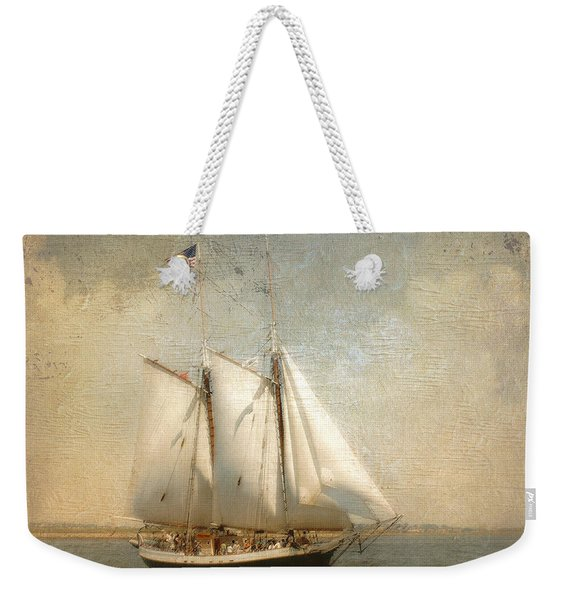 Liberty Clipper On Boston Harbor Weekender Tote Bag