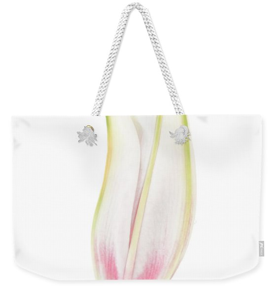 Lily In The Snow Weekender Tote Bag