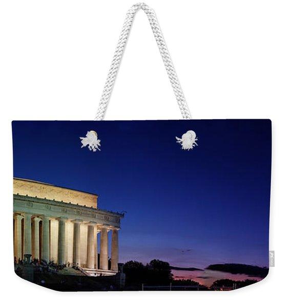 Lincoln Memorial At Sunset Weekender Tote Bag