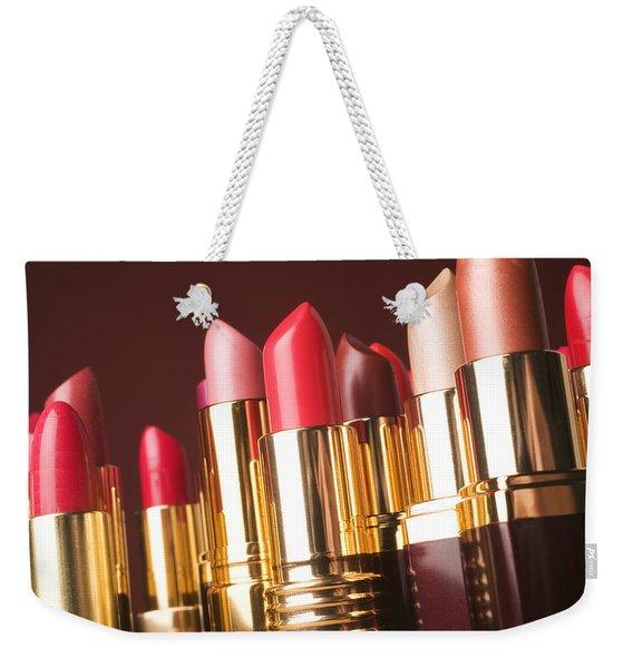 Lipstick Tubes Weekender Tote Bag
