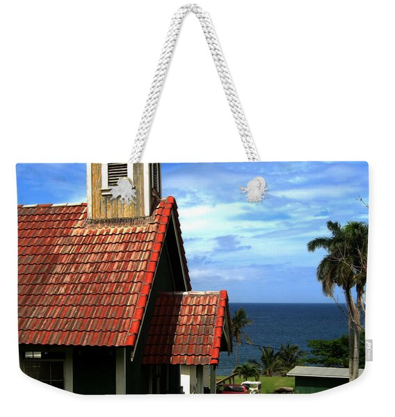 Little Green Church In Hawaii Weekender Tote Bag