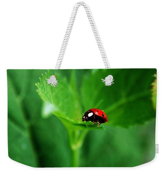 Little Red Lady Weekender Tote Bag