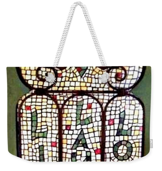 Weekender Tote Bag featuring the painting Live Laugh Love by Cynthia Amaral