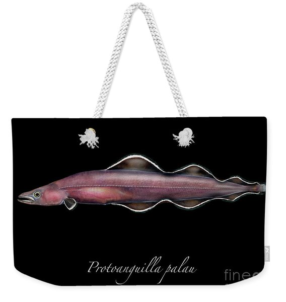 Living Fossil Eel - Protoanguilla Palau Weekender Tote Bag