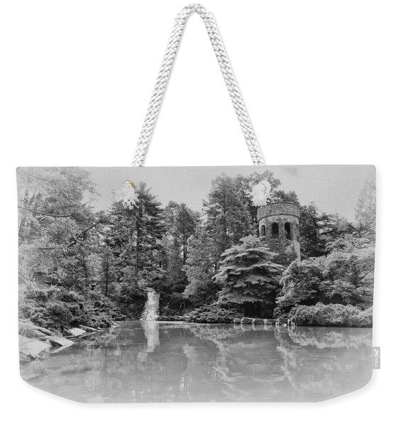 Longwood Gardens Castle In Black And White Weekender Tote Bag