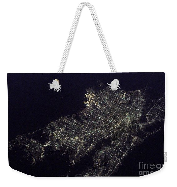 Los Angeles At Night Weekender Tote Bag