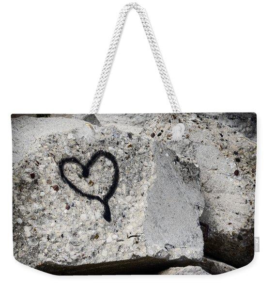 Love On The Rocks Weekender Tote Bag