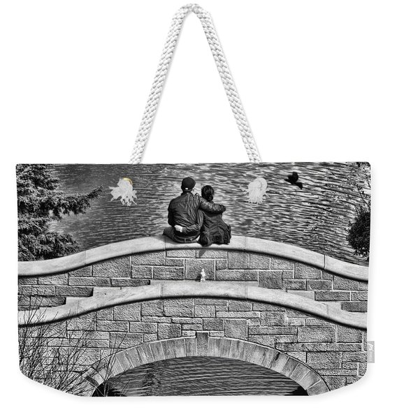 Lovers On A Bridge  Weekender Tote Bag