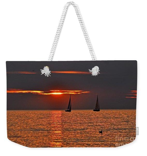 Coral Maritime Dream Weekender Tote Bag