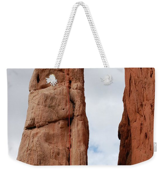 Lunch In The Mountains Weekender Tote Bag