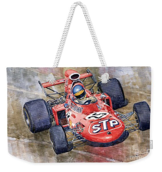 March 711 Ford Ronnie Peterson Gp Italia 1971 Weekender Tote Bag