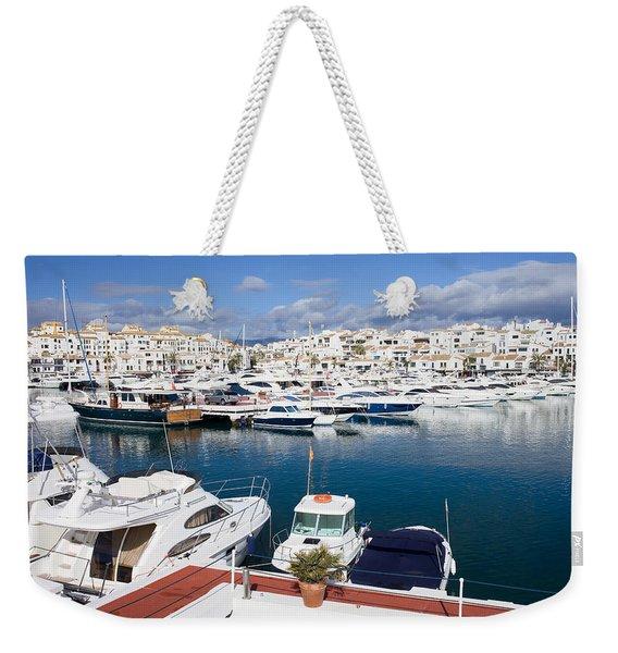 Marina In Puerto Banus Weekender Tote Bag