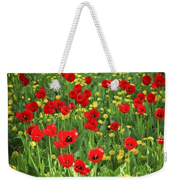 Meadow With Tulips Weekender Tote Bag