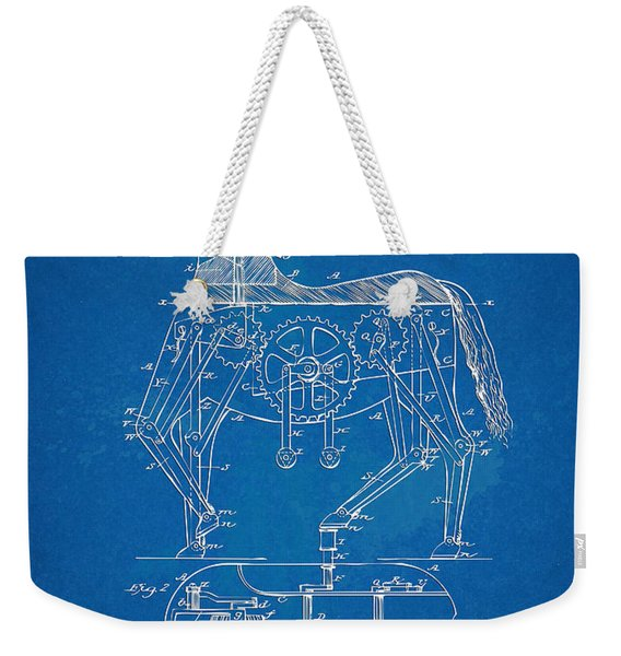 Mechanical Horse Toy Patent Artwork 1893 Weekender Tote Bag