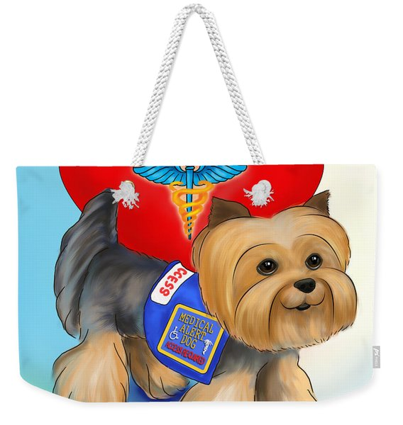 Medical Alert Yorkie Weekender Tote Bag