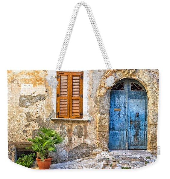 Mediterranean Door Window And Vase Weekender Tote Bag