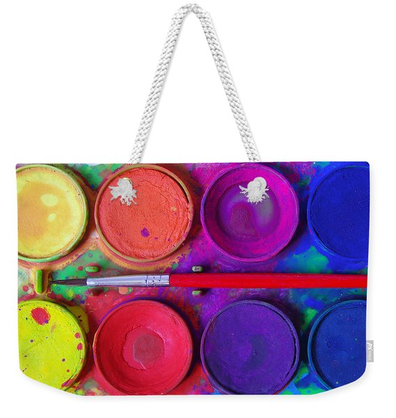 Messy Paints Weekender Tote Bag