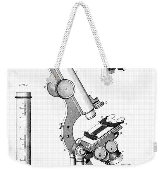 Microscope, 1865 Weekender Tote Bag