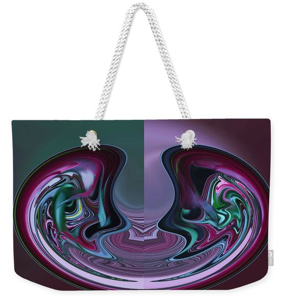 Weekender Tote Bag featuring the photograph Mindless Banter by Wayne King