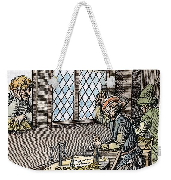 Minting Coins, 16th Century Weekender Tote Bag