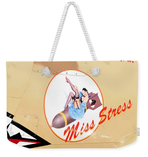 Miss Stress Weekender Tote Bag