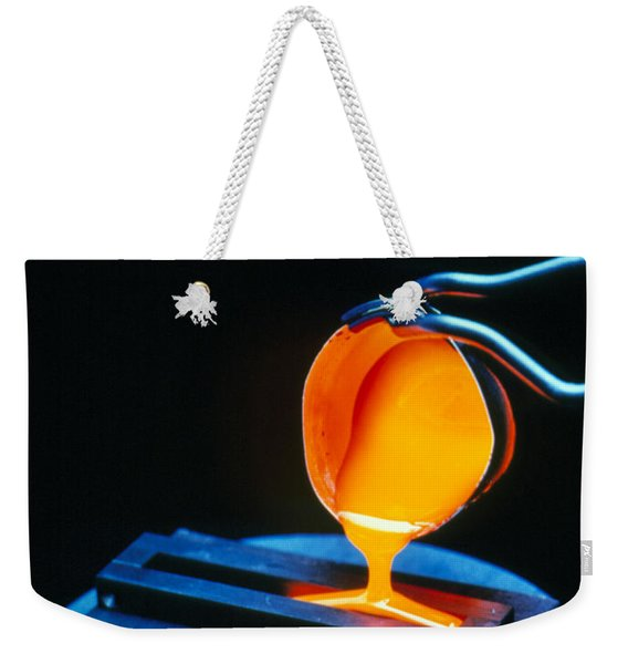 Molten Nuclear Waste Glass Poured Weekender Tote Bag