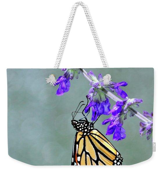 Monarch On Purple Weekender Tote Bag