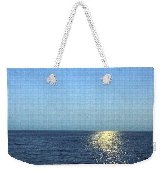 Moon And Water Weekender Tote Bag