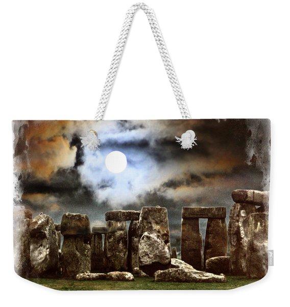 Moon Over Stonehenge Weekender Tote Bag