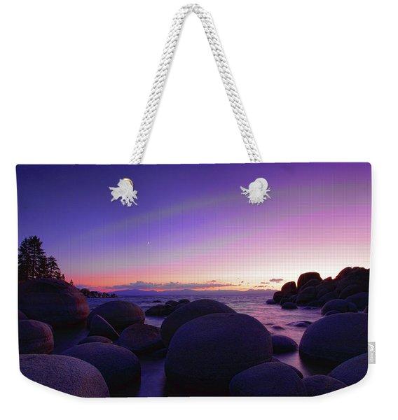 Moonrise Over Tahoe Weekender Tote Bag