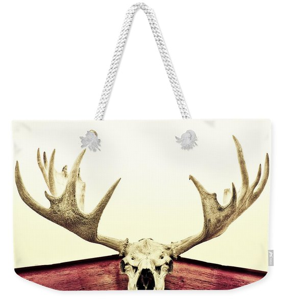 Moose Trophy Weekender Tote Bag