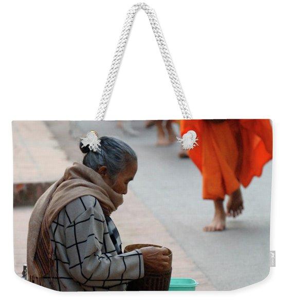Morning Alms 2 Weekender Tote Bag