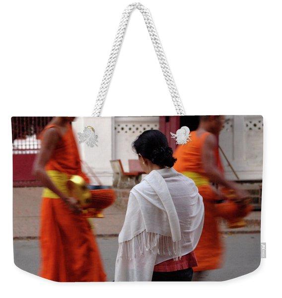 Morning Alms 3 Weekender Tote Bag