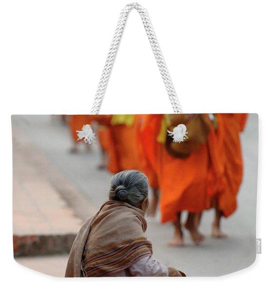 Morning Alms Weekender Tote Bag