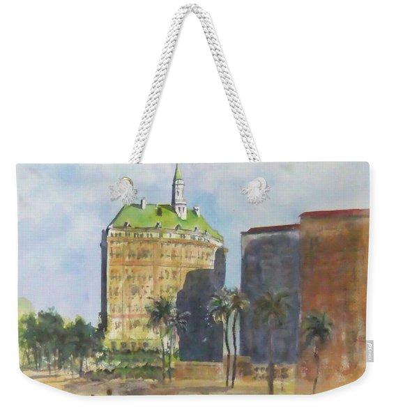 Morning Walk By The Villa Riviera Weekender Tote Bag