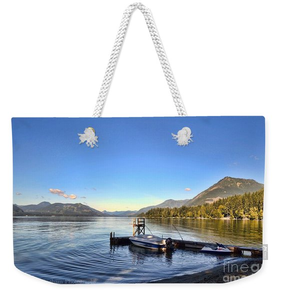 Mornings In British Columbia Weekender Tote Bag