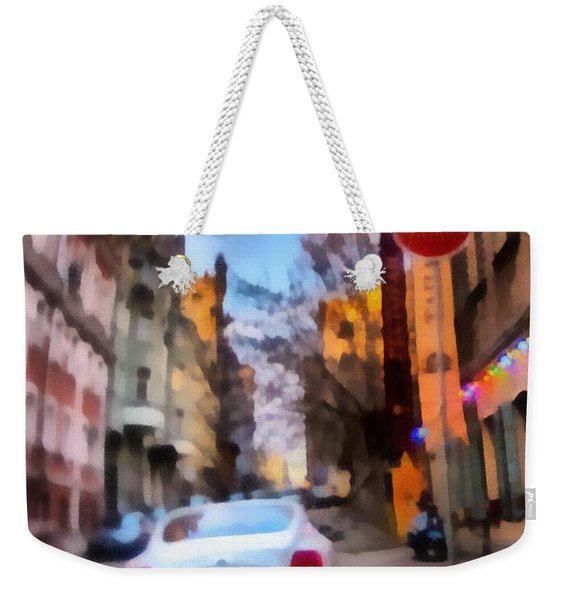 Weekender Tote Bag featuring the photograph Moscow's Streets by Michael Goyberg