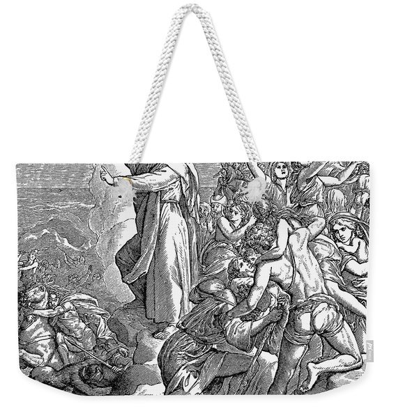 Moses And The Red Sea Weekender Tote Bag