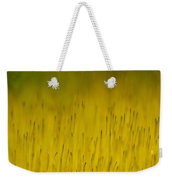 Moss In Yellow Weekender Tote Bag