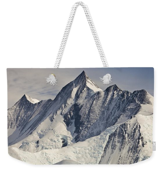 Mount Herschel Above Cape Hallett Weekender Tote Bag