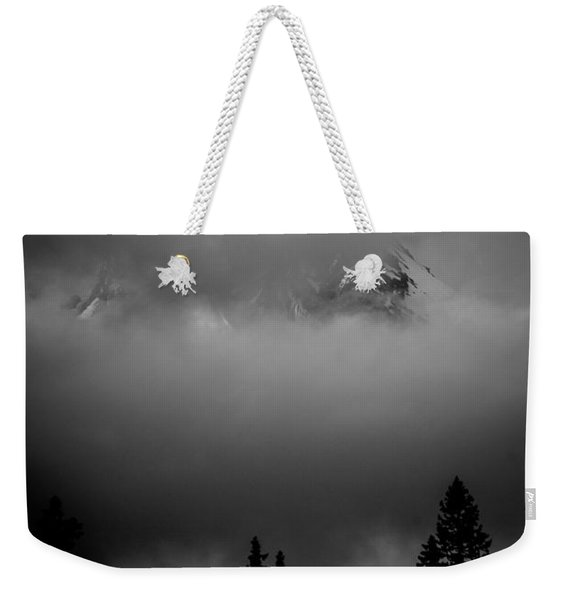 Mount Hood In Clouds Weekender Tote Bag