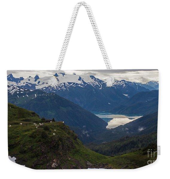 Mountain Flock Weekender Tote Bag