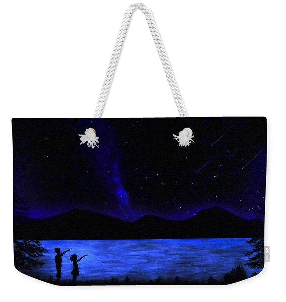 Mountain Lake Glow In The Dark Mural Weekender Tote Bag