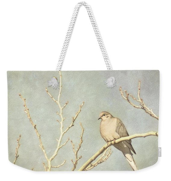 Mourning Dove In Winter Weekender Tote Bag