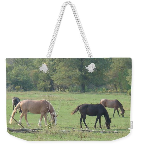 Mowing The Lawn Weekender Tote Bag