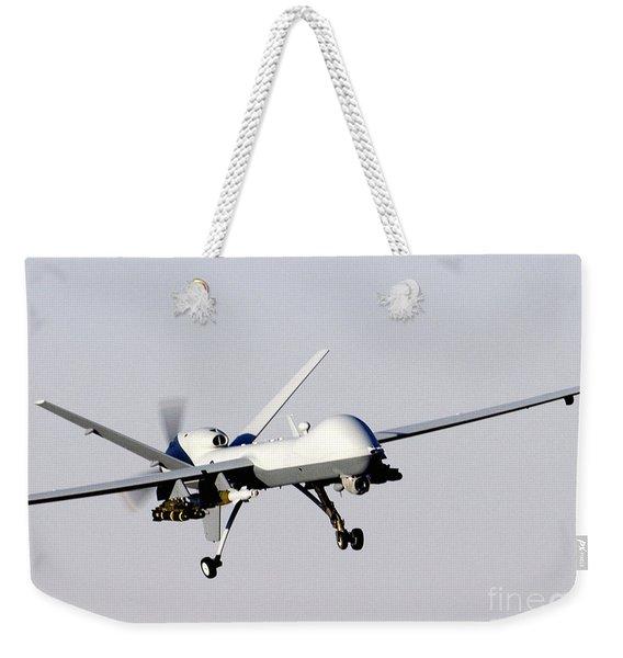 Mq-9 Reaper Prepares To Land Weekender Tote Bag