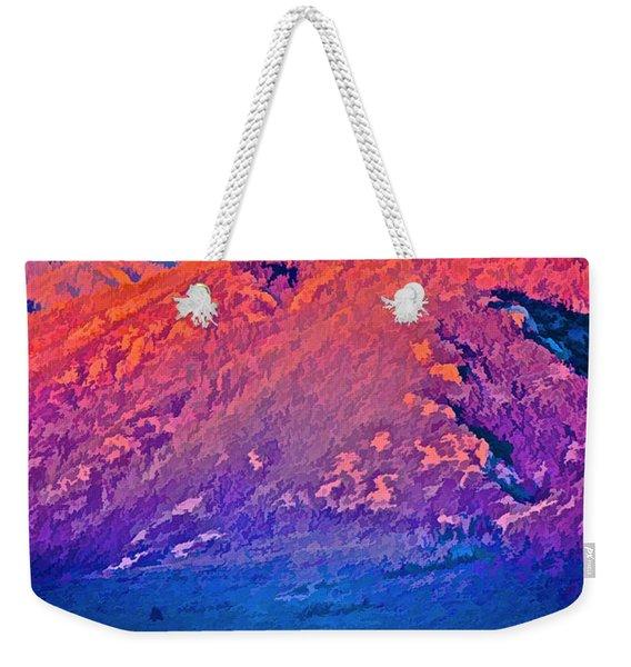 Mt Wheeler At Sunset Weekender Tote Bag