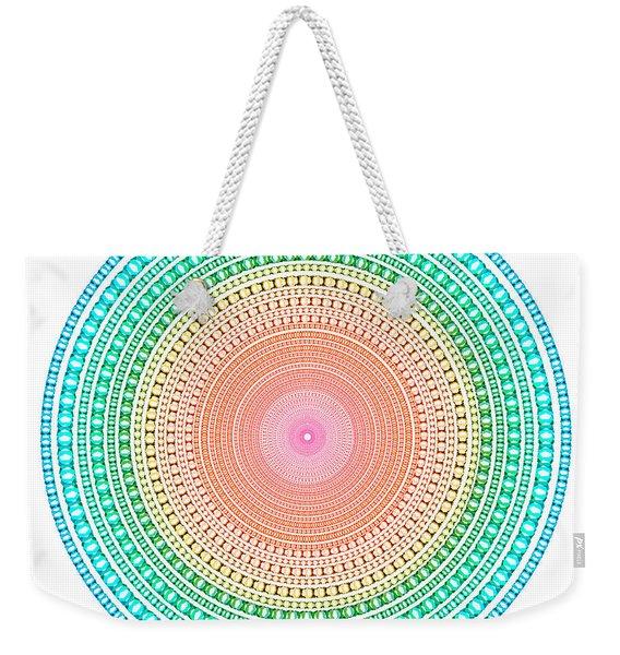 Multicolor Circle Weekender Tote Bag